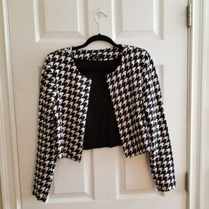 Houndstooth cropped blazer by H&M